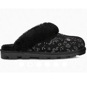 UGG   Coquette Zodiac Slippers In Black NEW